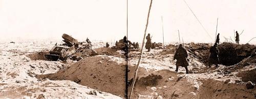 Место прорыва главной полосы обороны «Линии Маннергейма»- высота 65,5 после боя