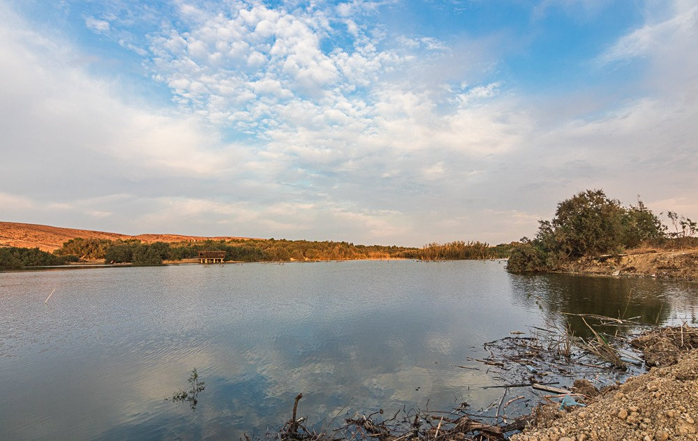 Озеро в пустыне Негев