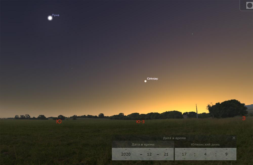 Сатурно-Юпитер слились на виртуальном небосклоне в тесных объятиях