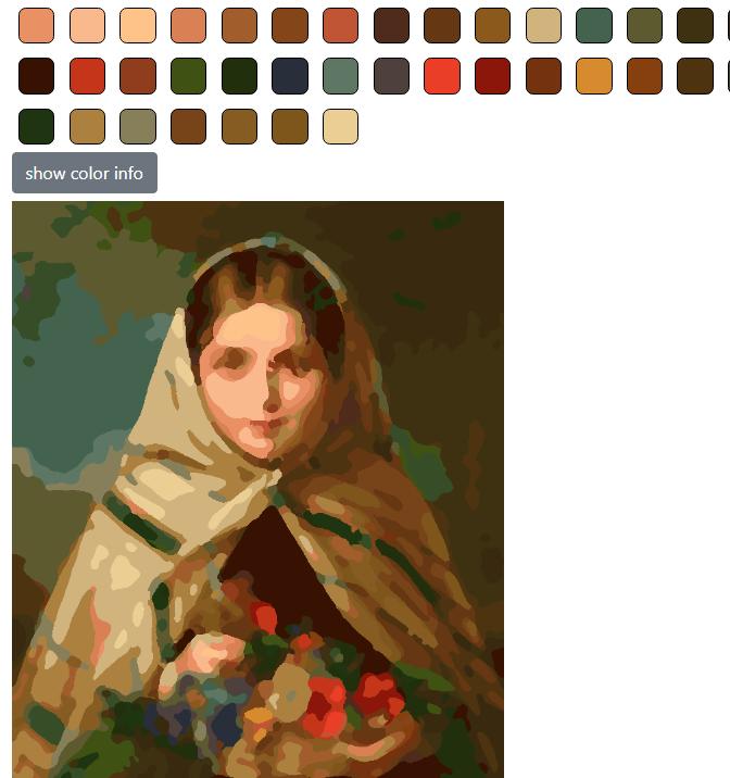По картине «Девушка с цветами»— художник Боровиков
