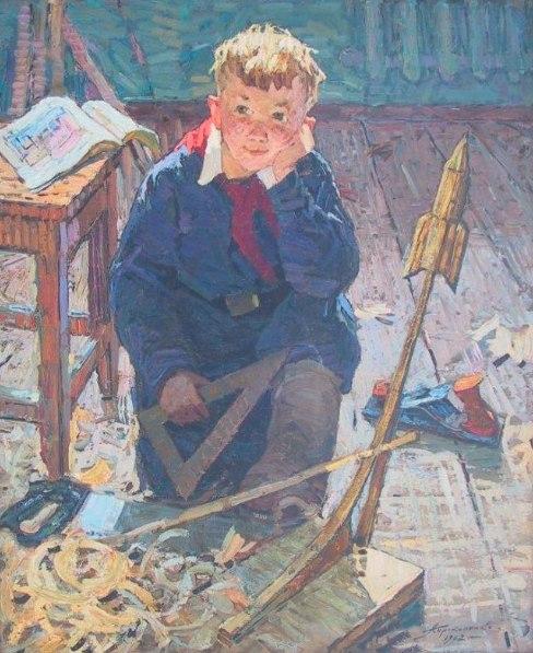 Прокопенко Алексей Андреевич. Будущий космонавт. 1962 г.
