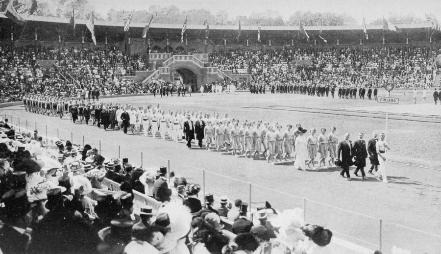 1912_Opening_ceremony_-_Finland