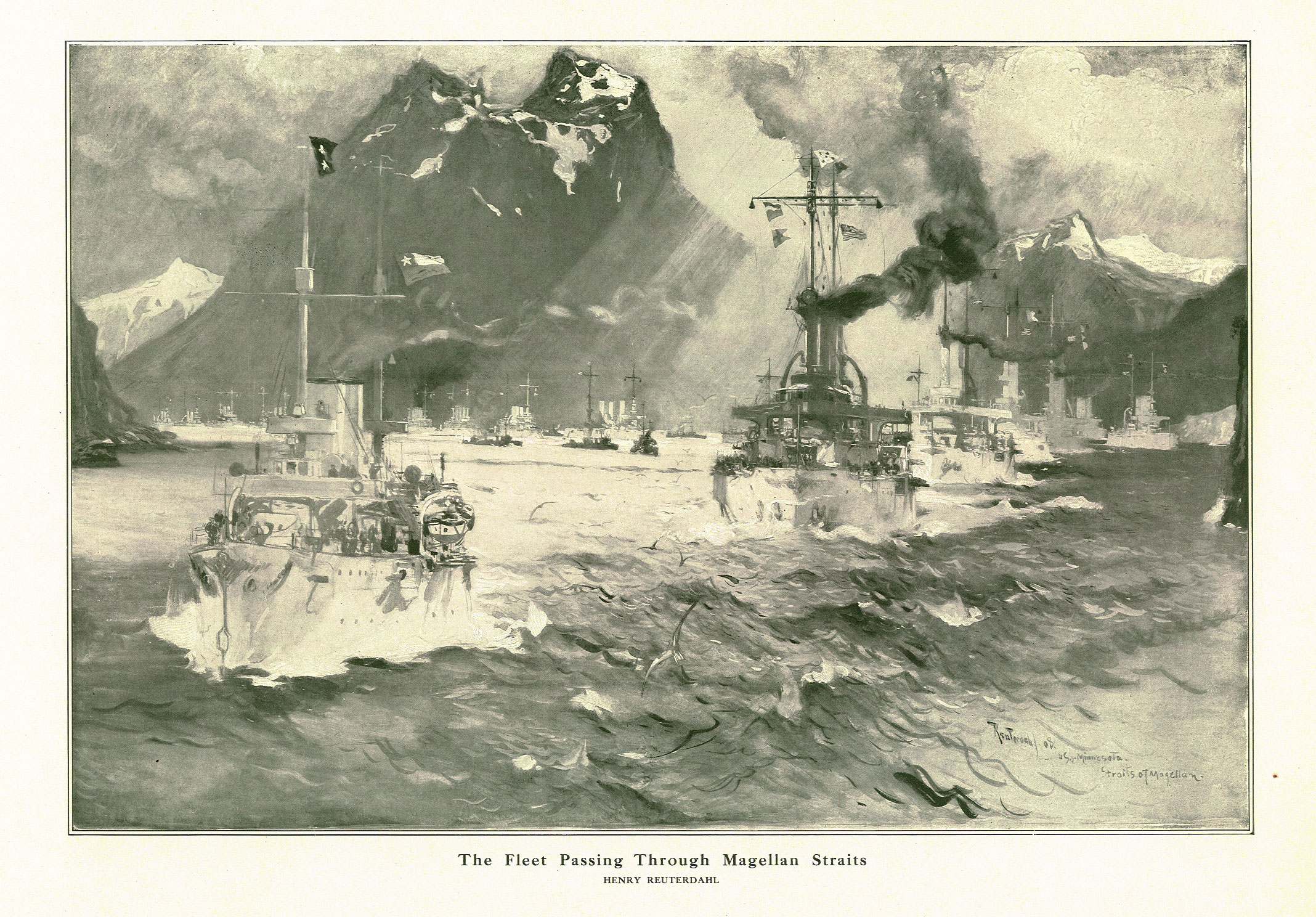 Reuterdahl_Fleet_Passing_Through_Magellan_Straits