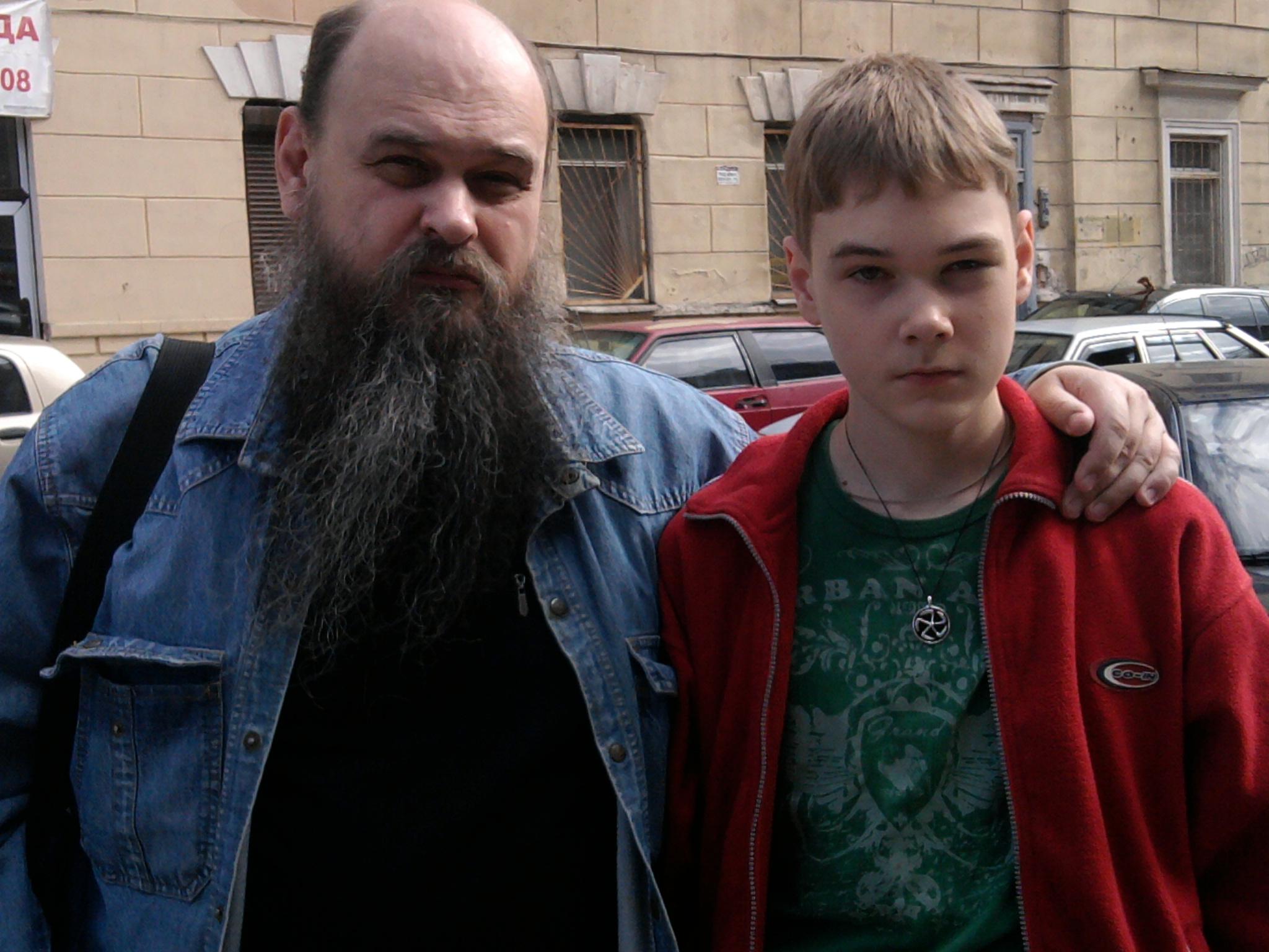душенов с сыном