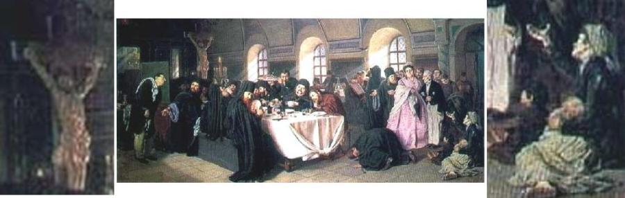 6 Василий Перов_ Монастырская трапеза 1875e