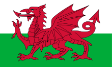 Welsh flag depicting red dragon.