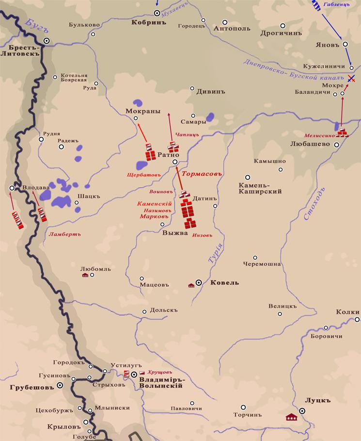 10 (22) июля 1812 года. Южное направление