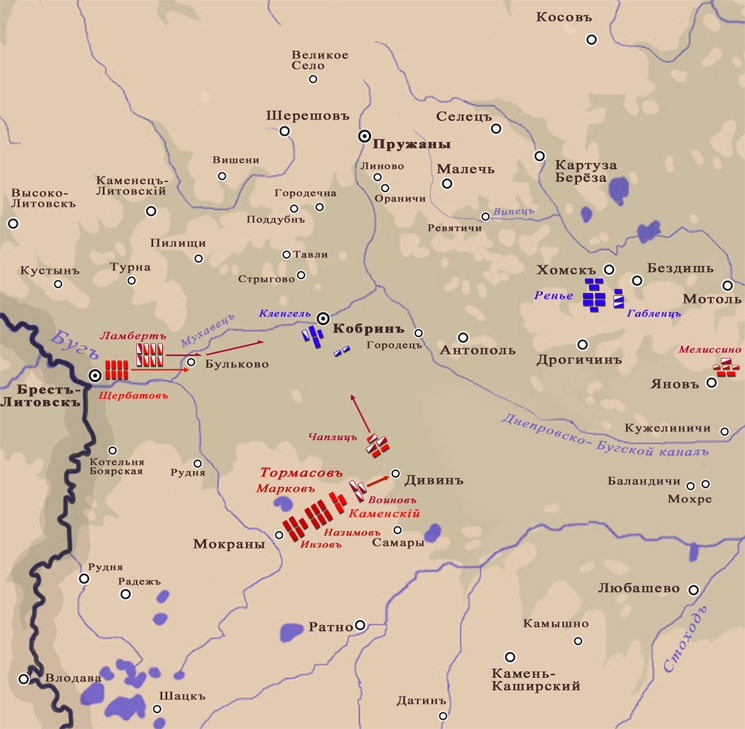 14(26) июля 1812 года. Тормасов идёт к Кобрину