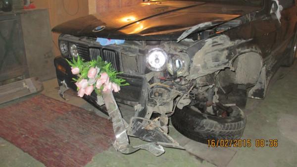 свадьба, авария