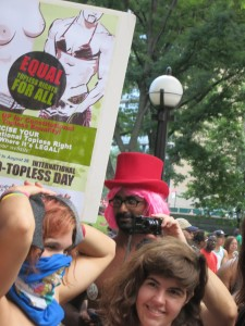 Equal Topless Rights for All poster