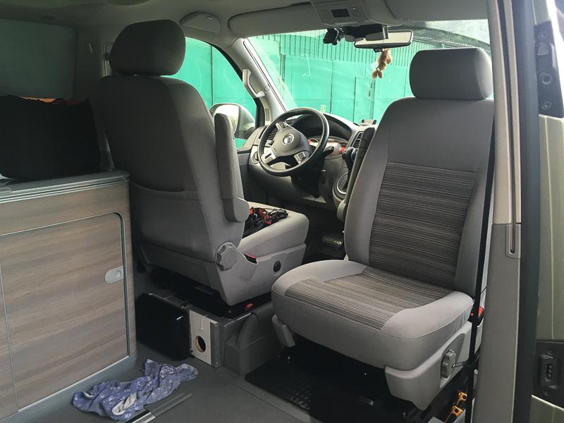 Кемпер — Поворот пассажирского кресла