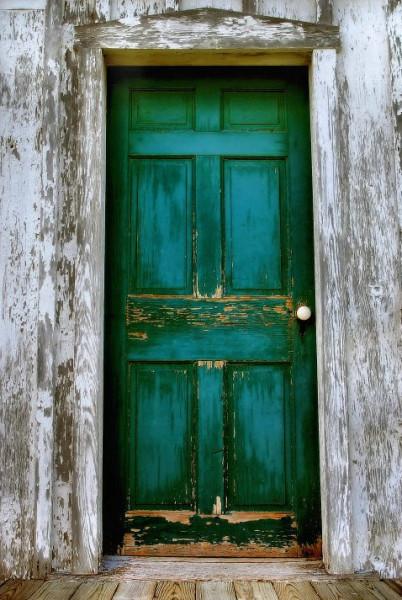двери входные зеленый