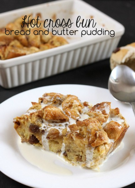 Hot cross bun bread and butter pudding 7