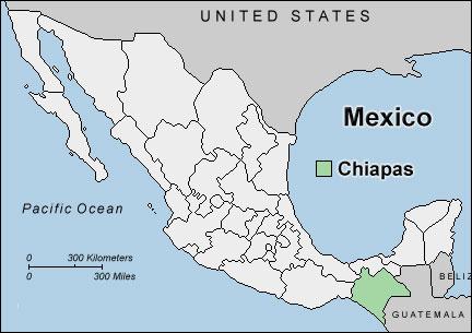 map chiapas