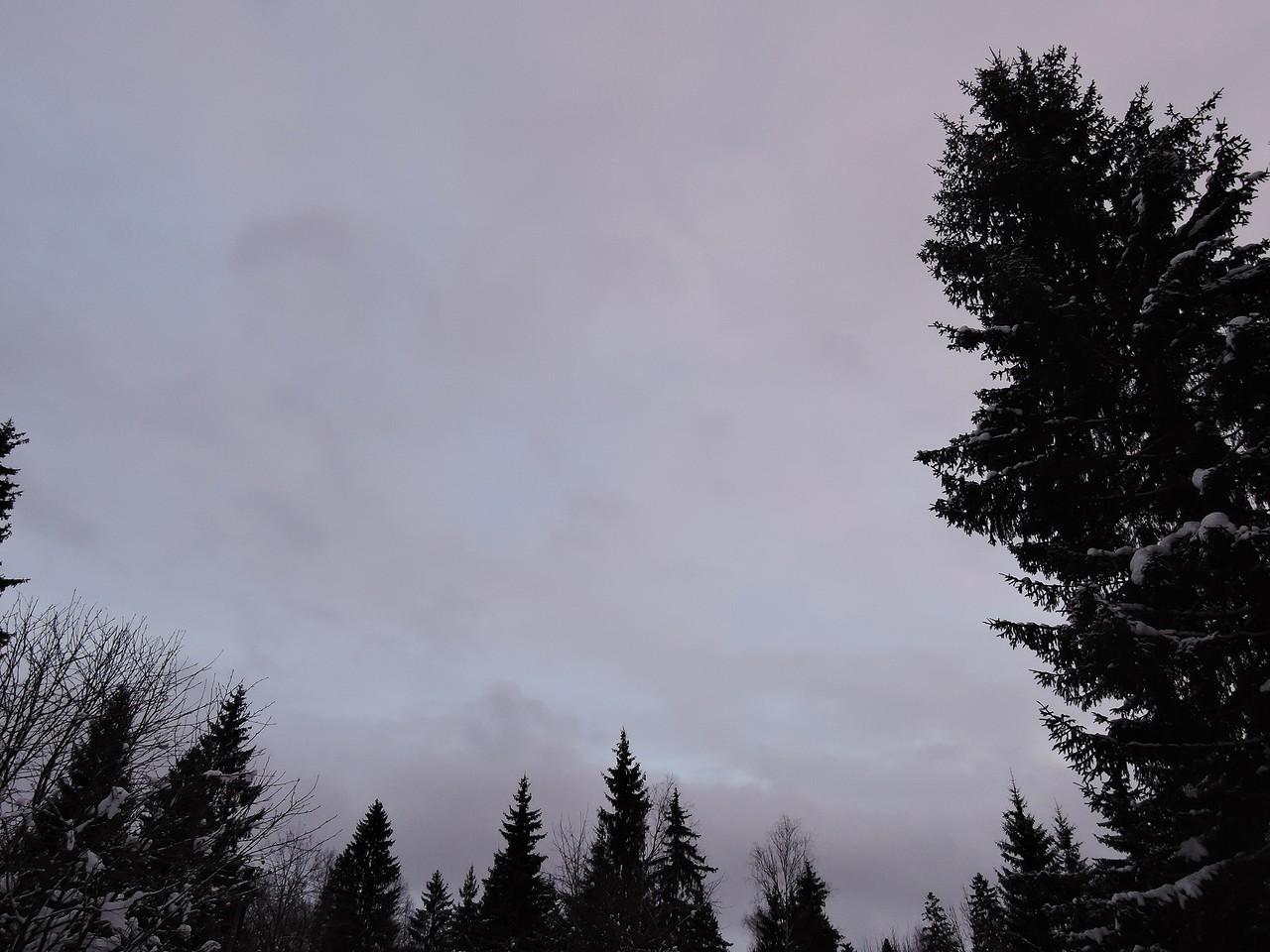Предзакатное небо