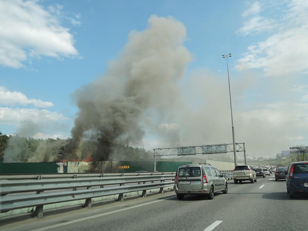 Пожар на Рижском шоссе