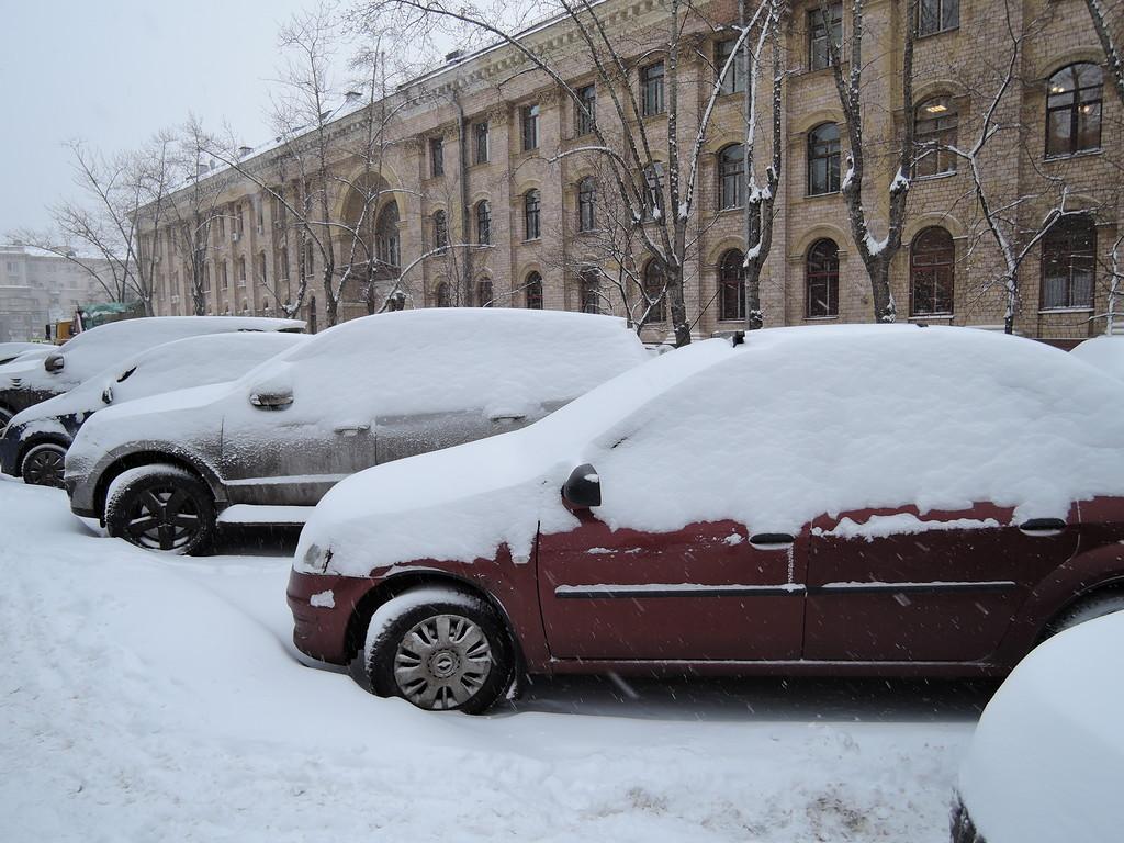 Снеопад в Москве