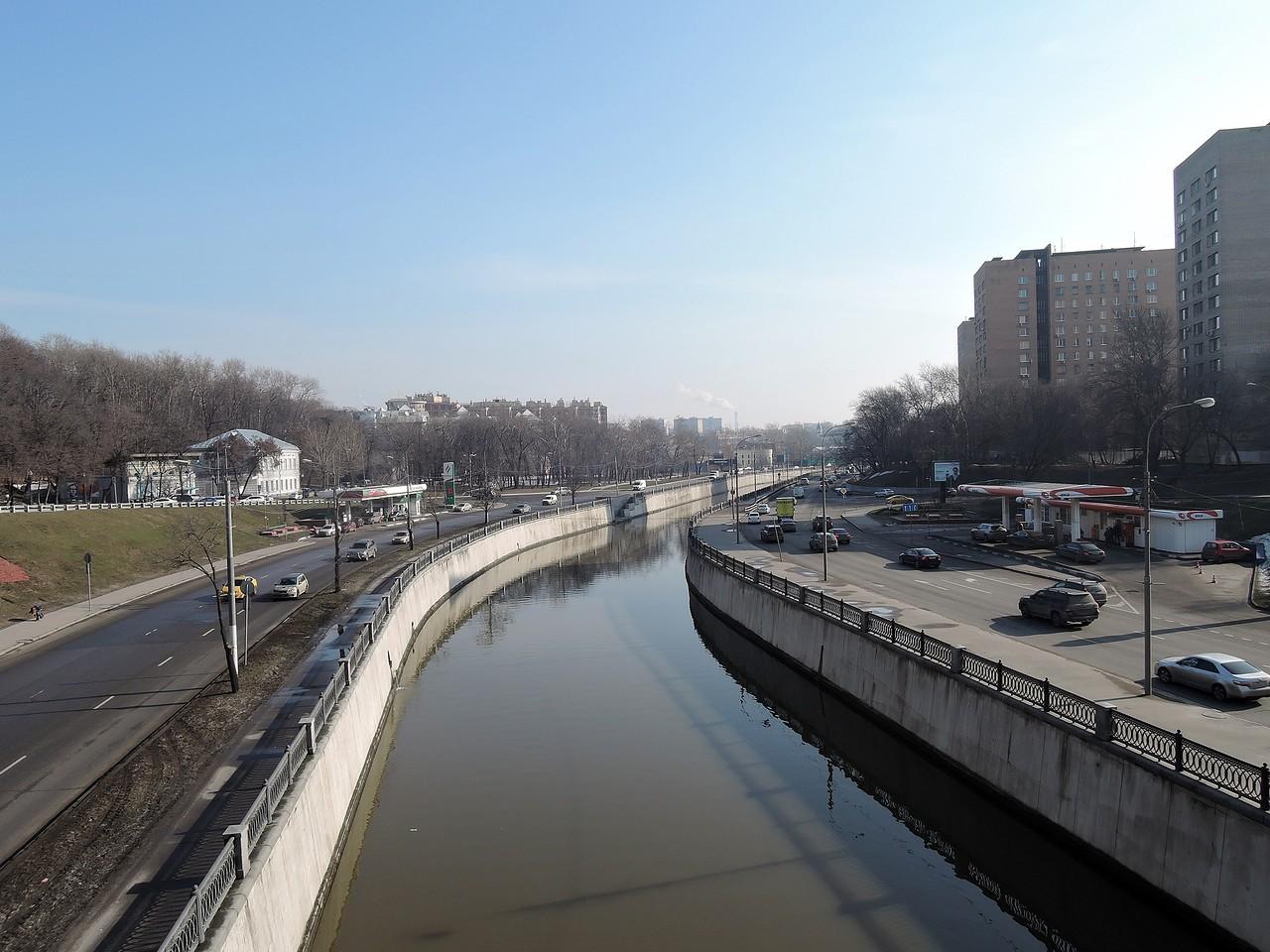 Вид на Яузу с Высокояузского моста