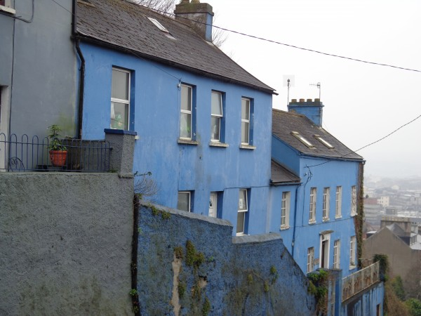 2.  Cute Blue House