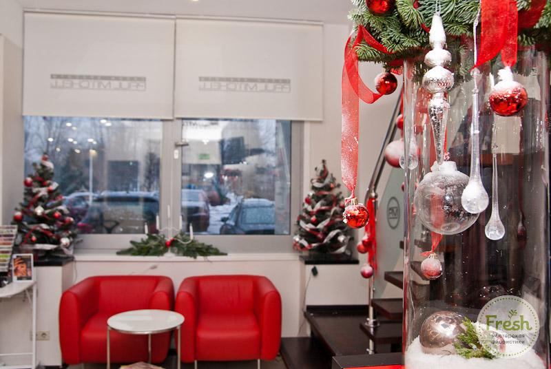 новогоднее оформление салона красоты