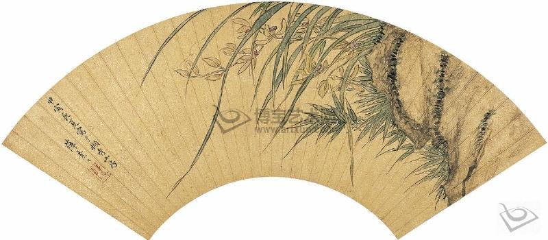 Сюэ Сусу. Рисунок на веере