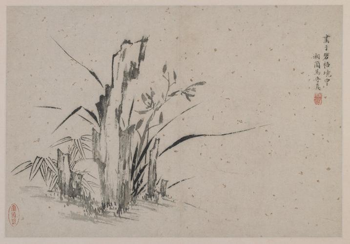 Бамбук, камни и орхидеи