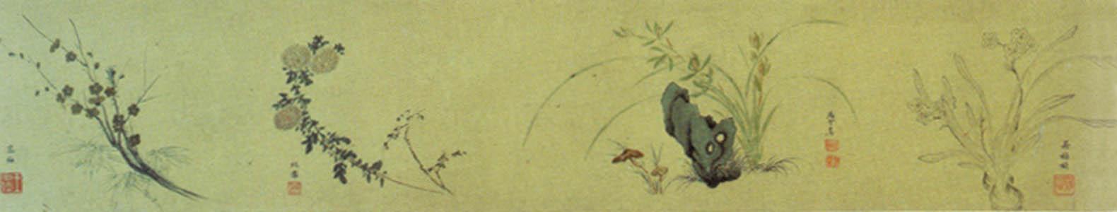 Свиток с цветами