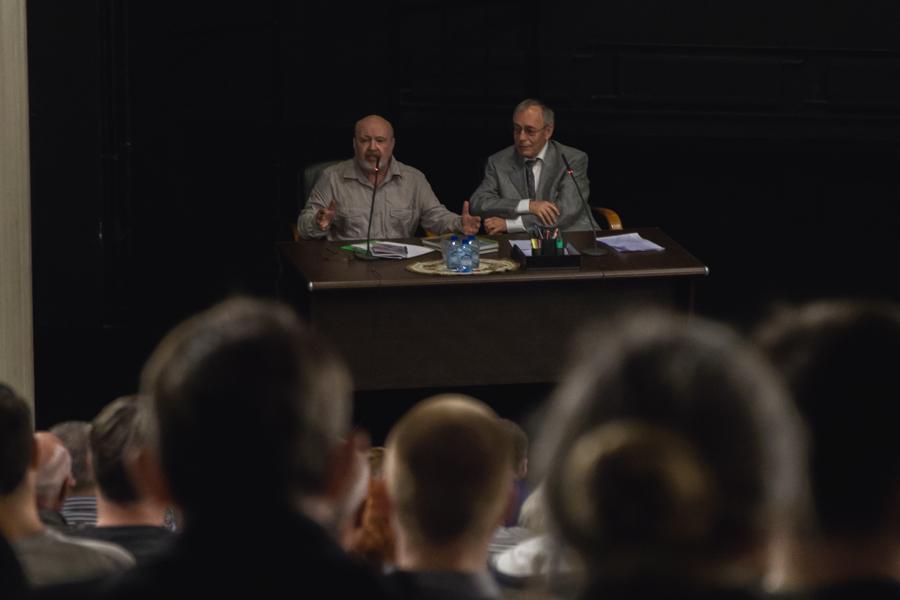 Встреча авторов газеты «Суть времени» с читателями и гостями, Бялый, Петров, Сорокина, Москва, ЭТЦ, 24 июня 2017 года
