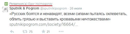 Холмогоров твиттер