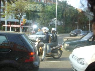 собака на мотоцикле