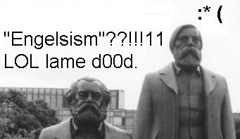 Marx and Engels disagree over what the new theory is going to be called