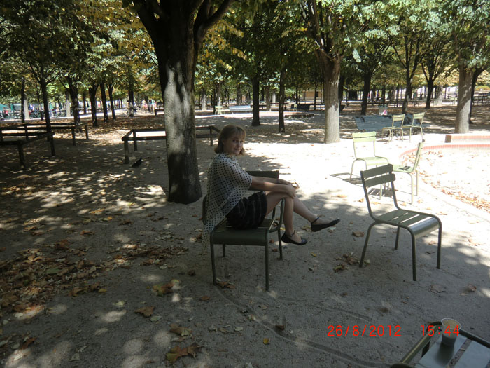 Маша в Люксембургском саду