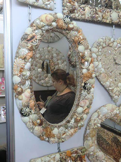 зеркало ракушки