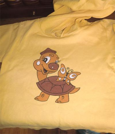 футболка с черепашкой