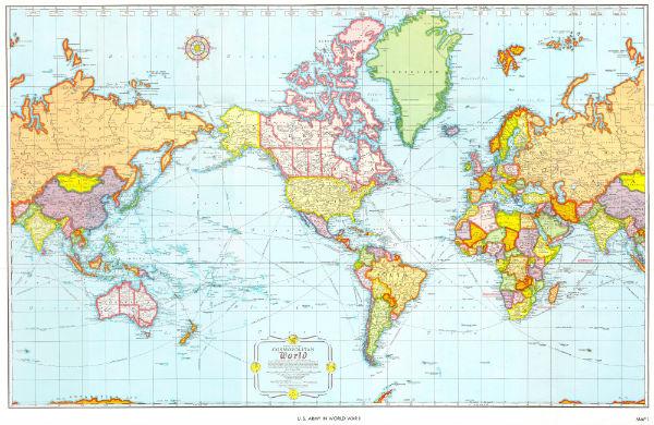 Американская карта мира