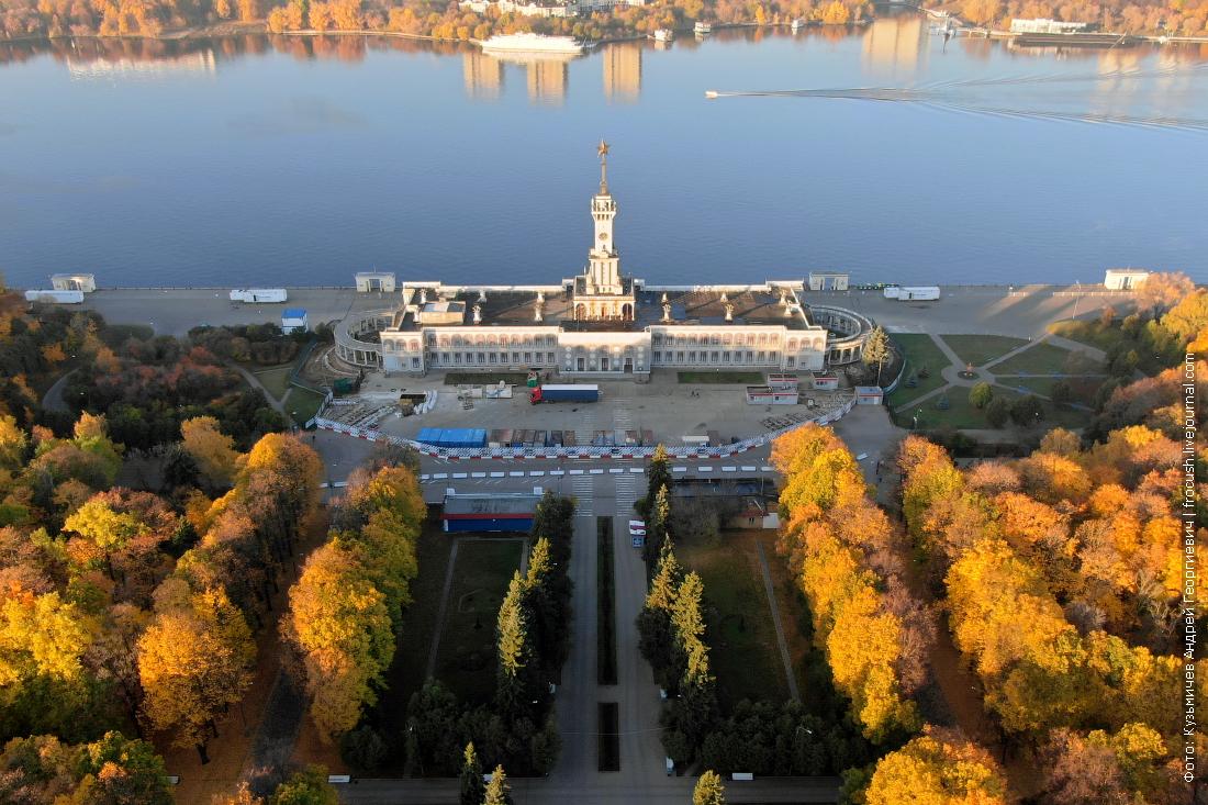 реконструкция здания Северного речного вокзала Москвы фото от 17 октября 2018