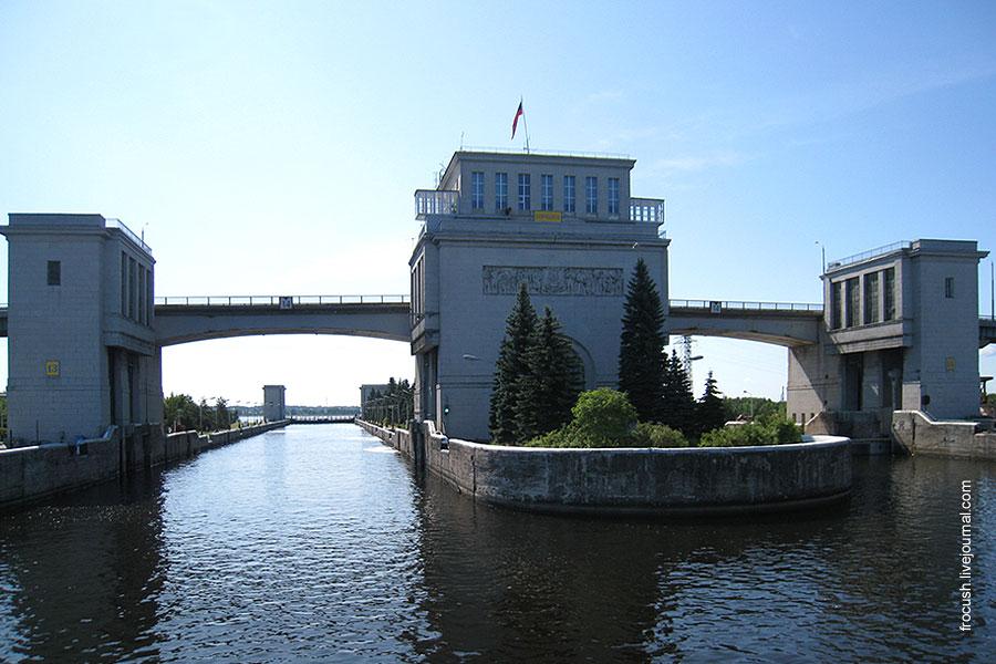 Шлюз Городецкого гидроузла.