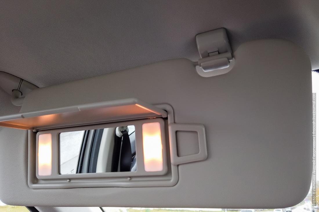 солнцезащитный козырек с косметическим зеркалом и подсветкой haval f7