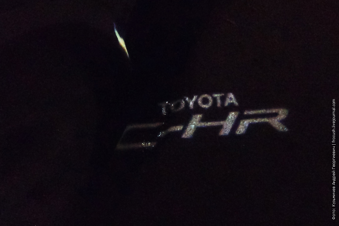 проекция логотипа toyota c-hr