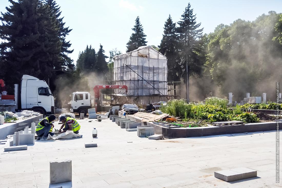 благоустройство парка северного речного вокзала