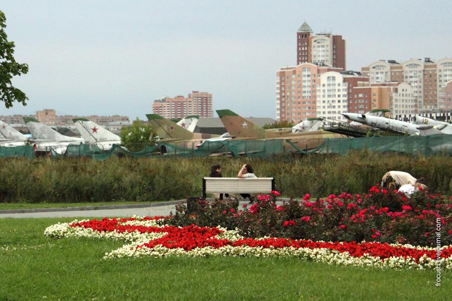 Самолеты на Ходынском поле в Москве. Август 2009.