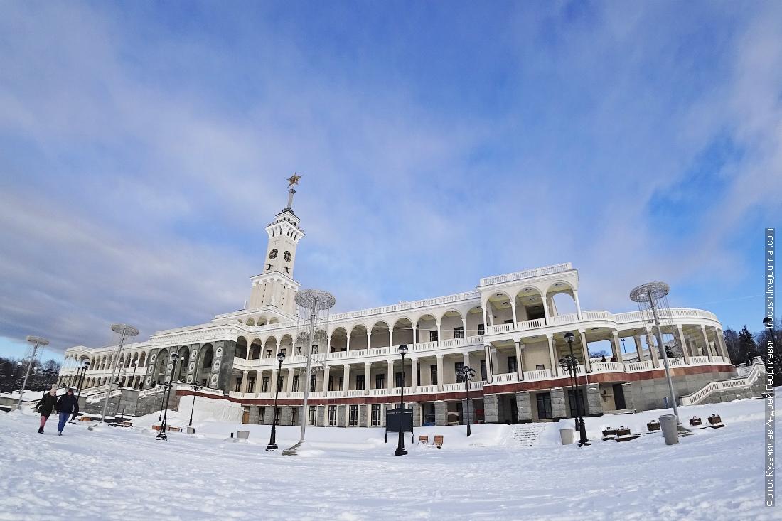 зимний северный речной вокзал москвы
