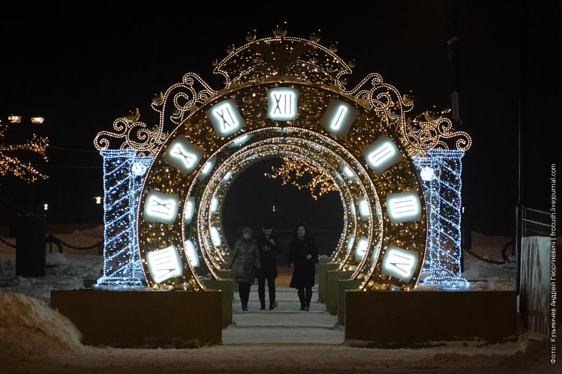 ночные зимние дорожки в парке срв