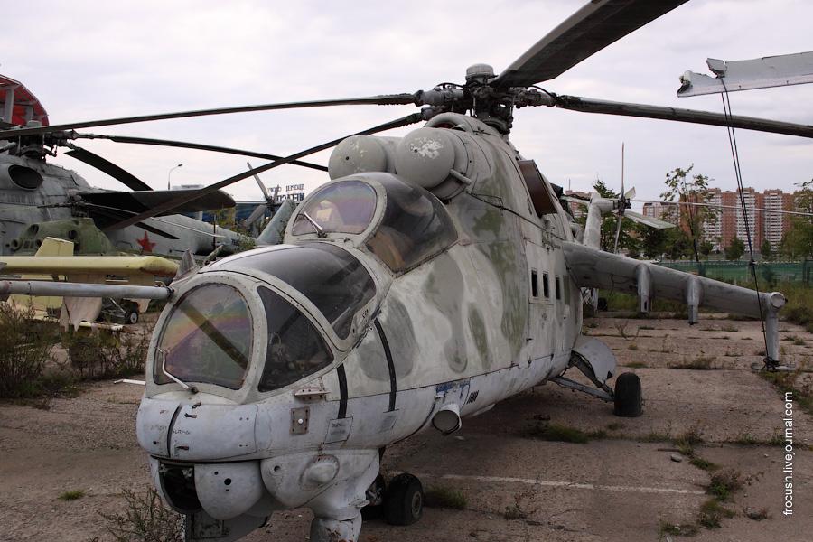 Вертолет Ми-24В на Ходынском поле в Москве