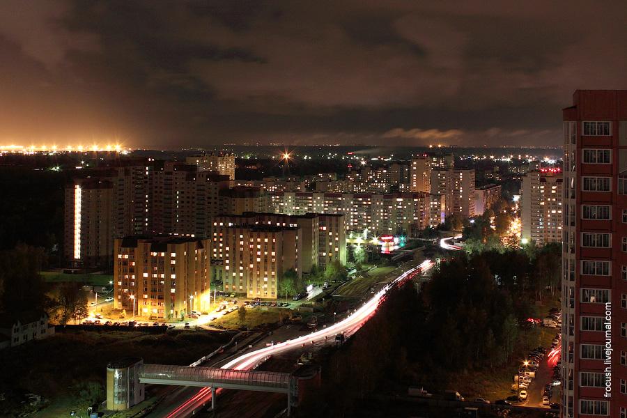 Город Долгопрудный. Лихачевское шоссе.
