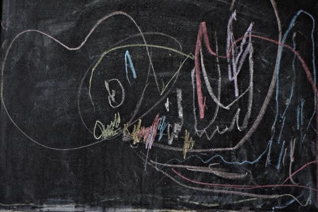 Как создать рисунок мелом