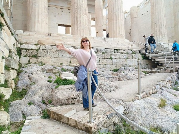 На вершине Акрополя. Парфенон.