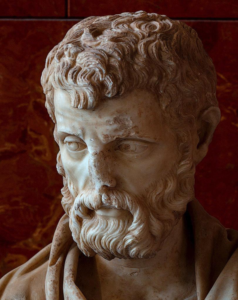 Изображение из интернета. Деталь скульптуры, изображающей Герода Аттика, из коллекции Лувра, Париж.