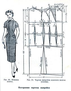 Для построения чертежа выкройки основы женского платья необходимо снять следующие мерки.  Итак, начнем.