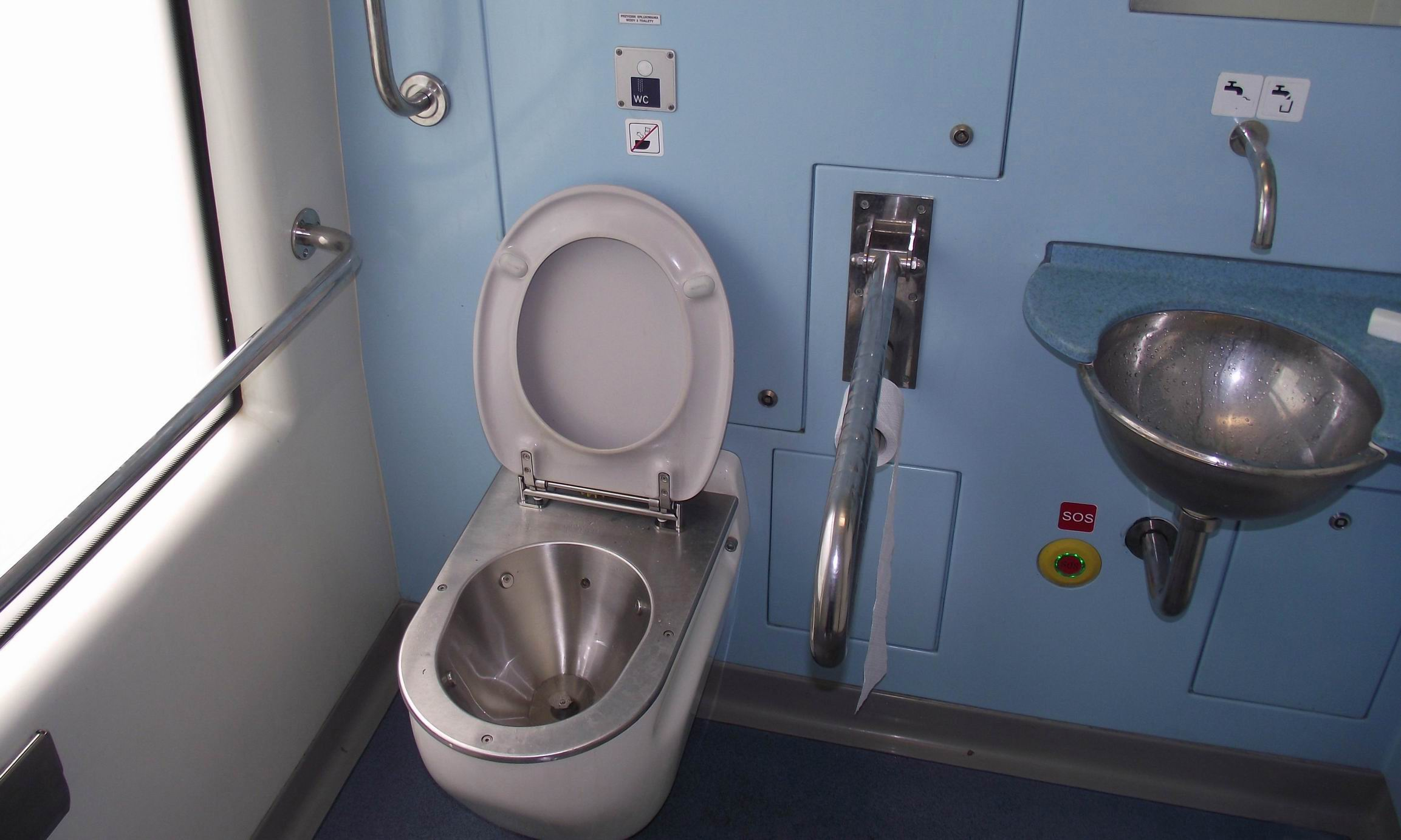 Туалет в польском поезде